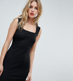 Платье мини без рукавов с квадратным вырезом Boohoo - Черный