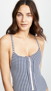 Blue Life Zipped Up One Piece Swimsuit