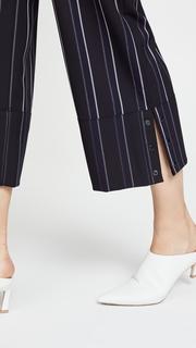Yigal Azrouel Pinstripe Wide Leg Pants