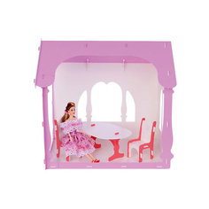 """Домик для кукол """"Летний дом Вероника"""", бело-розовый с мебелью Replace and Choose"""