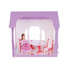 """Домик для кукол """"Летний дом Вероника"""", бело-сиреневый с мебелью Replace and Choose"""