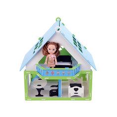 """Домик для кукол """"Дачный дом Варенька"""", бело- голубой с мебелью Replace and Choose"""