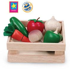 """Игровой набор Wonderworld """"Овощи и грибы"""" для нарезки, в ящике"""
