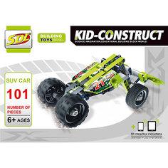 """3D-Конструктор SDL """"Kid-Construct"""" Кроссовер зелёный, 101 деталь"""