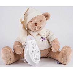 Умная игрушка для новорожденного Медведь DrЁma BabyDou со звуковым эффектом, бежевый