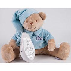 Умная игрушка для новорожденного Медведь DrЁma BabyDou со звуковым эффектом, голубой