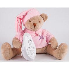 Умная игрушка для новорожденного Медведь DrЁma BabyDou со звуковым эффектом, розовый