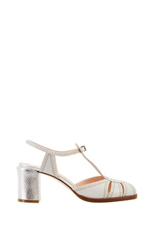 Кожаные босоножки на каблуке Fendi