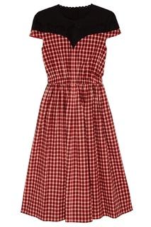 Платье с комбинированным верхом Fendi