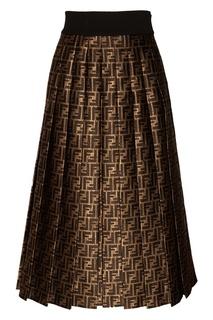 Расклешенная юбка с монограммами Fendi