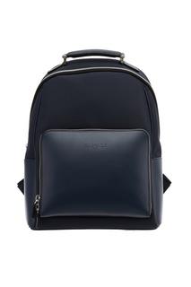 Комбинированный синий рюкзак Canali