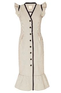 Хлопковое платье в полоску The Dress