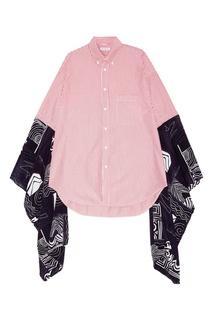 Блузка с комбинированными рукавами Balenciaga