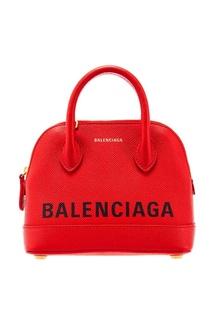 Красная микросумка Ville Top Handle XXS Balenciaga