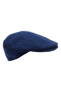 Синяя шерстяная кепка Kiton