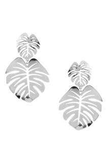 Серебристые серьги-листья Lisa Smith