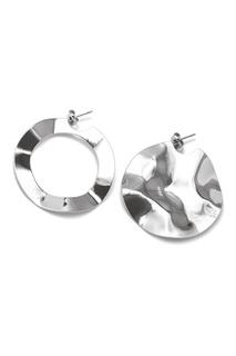 Серебристые асимметричные серьги Lisa Smith