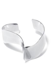 Серебристый изогнутый браслет Lisa Smith