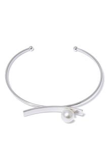Серебристый браслет с искусственным жемчугом Lisa Smith