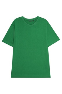 Зеленая футболка из хлопка Blank.Moscow