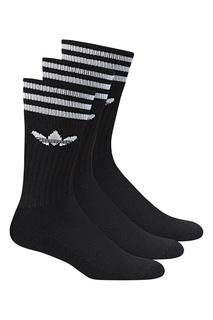 Черные носки с контрастной отделкой Adidas