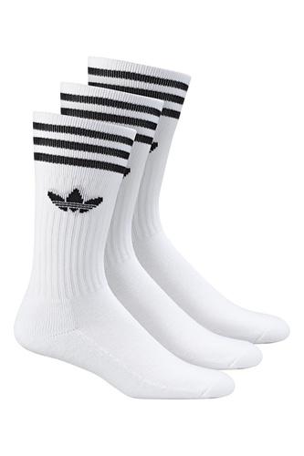 Белые носки с тройной полоской