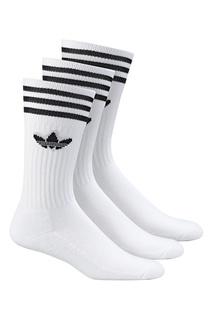 Белые носки с тройной полоской Adidas