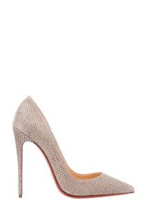 Блестящие серебристые туфли So Kate 120 Christian Louboutin