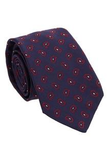 Шелковый галстук с узором пейсли Kiton