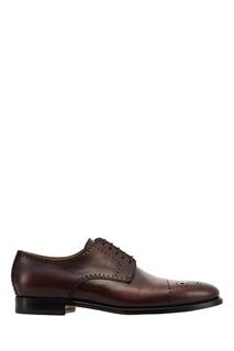 Кожаные ботинки с перфорацией Kiton