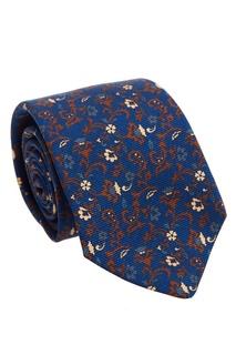 Шелковый галстук с цветочным орнаментом Kiton