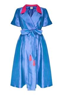 Голубое платье с отложным воротником The Dress