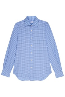 Голубая рубашка в клетку Kiton