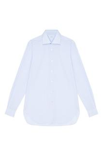 Хлопковая голубая рубашка Kiton