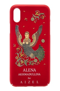 Красный чехол для iPhone X by Alena Akhmadullina Russian Essentials