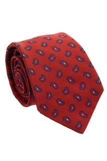 Красный галстук с узором пейсли Kiton