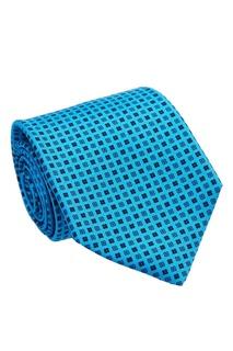 Голубой галстук с цветочным принтом Kiton