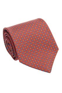 Шелковый галстук с мелким узором Kiton
