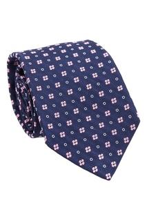 Шелковый галстук с цветочным узором Kiton