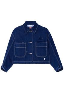 Синий джинсовый жакет Miu Miu