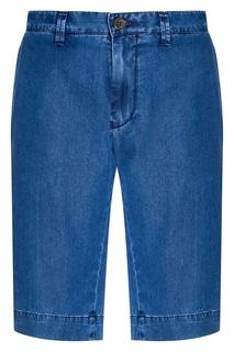 Голубые джинсовые шорты Canali