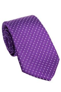 Фиолетовый галстук в горошек Canali