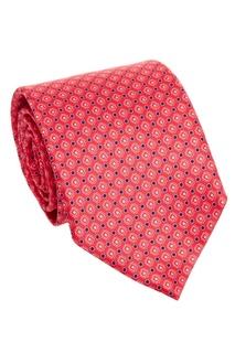 Розовый галстук с узором Canali