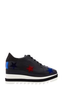 Черные ботинки с бархатными звездами Stella Mc Cartney