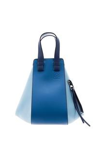 Кожаная сумка с декоративной молнией Hammock Loewe