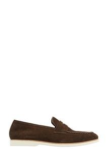 Коричневые замшевые туфли Canali