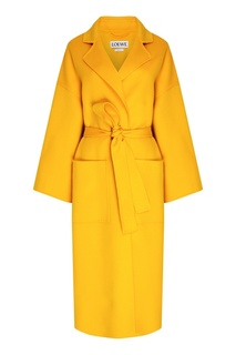 Желтое шерстяное пальто Loewe