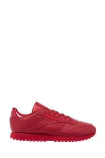 Красные кожаные кроссовки Reebok