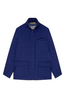 Синяя стеганая куртка Canali