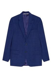 Синий костюм с полоску Canali